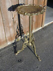 H 1195 Victorian Calling Card Plant Lamp Stand w Cherubs