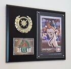 CRAIG BIGGIO CARDS & 5X7 TOPPS WALL ART DISPLAYED ON A 9X12 PLAQUE ASTROS HOF