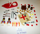 LEGO Pirate Minifigures Treasure Chest Map Printed Tile Key Rifle Boat 10210 oar
