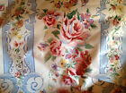 Cottage Chic n Shabby Cottom Upholstery floral stripe fabric P. Kaufman Waverly