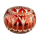 Cranberry Ruby Red Glass Candy Dish Bowl Unique Gift for Her