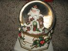 Fitz And Floyd Snowy Woods Musical Water Ball Globe Animals Forrest Santa