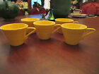 LOT of 5 CUPS! Vintage HOMER LAUGHLIN: HARLEQUIN: YELLOW: lovely!