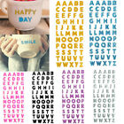 55 Words Stick On Colorful Bling Crystal Alphabet Letter Stickers Self Adhesive