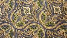 NEW April Cornell Table Runner 17 x 90 Cotton - Blue Green Gold Floral Paisley