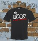 T-SHIRT DATE OF BIRTH 1987 A STAR WAS BORN gift idea humor funny