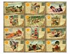 12 Beach Fun in the Sun Vintage Hang Tags Scrapbooking Paper Crafts