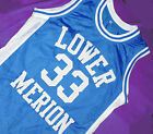 KOBE BRYANT #33 LOWER MERION HIGH SCHOOL JERSEY BLUE SEWN  NEW   ANY SIZE