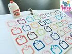 PP052 40pcs Little Weight Scale Life Planner Die cut Stickers for Erin Condren