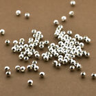 500pc 3mm Beads Sterling Silver Seamless Polished Wholesale Lot Spacers
