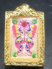 King of Butterfly With 9 Tailed Fox Lady By Kruba Krissana Thai Buddha Amulet#4