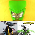 Green Racing Universal Motorcycle Headlight Fairing Streetfighter Enduro Cross