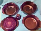 Tupperware TupperWave Stack Cooker System Cranberry 5 Piece Set Microwave