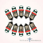 10 Pack 63 Volt LED Bulb Concave 44 47 Base BA9S Pinball RED