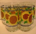 5 - CORELLE SUNSATIONS WATER TUMBLERS GLASSES