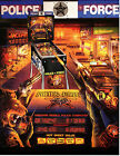 POLICE FORCE Original PROMO Pinball Flyer WILLIAMS 1989 Brochure Advertising