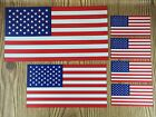 American Flag Magnets Set of 6 Magnets 3 Sizes Patriotic USA Car Fridge Decals
