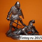 Knight throws the enemy. Tin soldier 54 mm