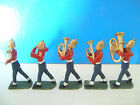 Lead Soldiers British Military Band Hand Painted x5