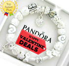 Authentic Pandora Bracelet Silver LOVE STORY WIFE White with European Charms