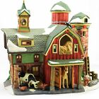 Heartland Valley Village Deluxe Porcelain Lighted Red Barn - EUC