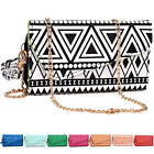 Tribal Pattern Crossbody Wristlet Wallet for iPhone Samsung HTC LG Alcatel Sony