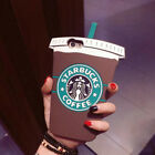 3D Cute Starbucks Coffee Cup Silicone Soft Rubber Case Cover For iPhone Samsung