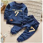Toddler Kids Baby Boy Girls Outfits Clothes T shirt Tops+Pants Trousers 2PCS Set