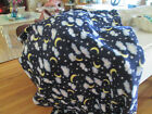 New fleece fabric 2 yards stars clouds and blue background great tie blanket