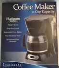 New Continental 12 Cup Electric Platinum Series Black Coffeemaker Pot