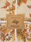 NEW April Cornell 60 x 84 inch Tablecloth - Autumn Leaves - Green Yellow Orange