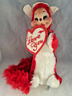 RARE Vintage RUSHTON Rubber face Original Valentine Animal Plush Stuffed Fox