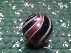 Large antique Lutz marble, amber base 1.30 inches