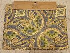 NEW April Cornell Set of 4 Placemats Blue Yellow Green Floral Paisley 14 x 19 in