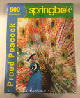 Springbok Proud Peacock 500 Piece Jigsaw Puzzle - Brand New  - Free Shipping