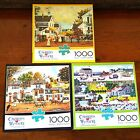 Lot of 3 Charles Wysocki 1000 Piece Jigsaw Puzzles Complete Cape Cod CricketHawk