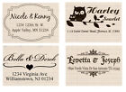 Custom name Self Inking wedding business family return address rubber stamp