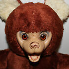 vintage rubber face plush bear stuffed animal with rotating head