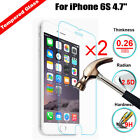 2Pcs 9H Real Premium Tempered Glass Film Guard Screen Protector For Apple Iphone
