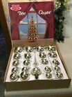 VINTAGE Coby Glass Christmas Tree Cluster Ornaments Original Box RARE Read