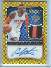 2014 15 PANINI SELECT CARMELO ANTHONY GOLD PRIZM AUTO PATCH 05 10 2 COLOR PATCH