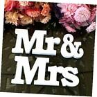 Mr  Mrs LOVE Wooden Letters Wedding Top Table Sign Gift Decor White New