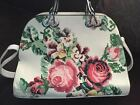 Bulgarian Handbag White with Rose Design