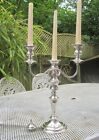 Old Edwardian Antique Georgian Style Silver Plate on Copper Candelabra c1900