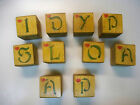 VINTAGE HAND MADE WOODEN BLOCKS-CHRISTMAS THEME