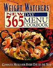 Weight Watchers New 365 Day Menu Cookbook Complete Meals for Every Day of the Y