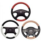 Custom Fit 1 2 Color Leather Steering Wheel Cover Wheelskins EuroTone 14 1 2x4