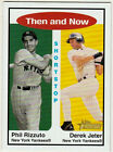 DEREK JETER PHIL RIZZUTO THEN AND NOW 2001 TOPPS HERITAGE NEW YORK YANKEES