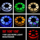 50 100 150 LED Rope Light 110V Party Home Christmas Outdoor 2 Wire Lighting
