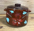 Vintage WEST BEND Stoneware Pottery BROWN GLAZED Baked Beans CROCKPOT w/LID